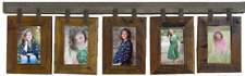 NEW RUSTIC FARMHOUSE BARNWOOD 5 PHOTO PICTURE FRAME COLLAGE 4X6 OR 5X7 DECOR