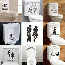 Funny Toilet Seat Removable Wall Sticker Vinyl Art Bathroom Decal Home Decor