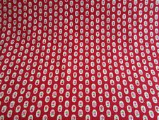 Red floral stripe rose fabric 100% cotton fat quarter half metre and metre SALE