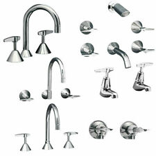 Quality Modern Tapware Mixer Set Solid Brass Chrome Lever Handle Free Postage