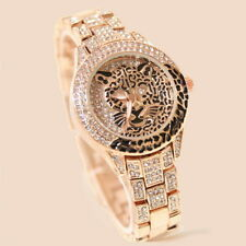 Women Diamond Watch Cheetah Leopard Jaguar Animal Relief Ladies Watch Rhinestone