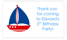 PERSONALISED STICKERS LABELS ADDRESS PARTY NAUTICAL BOAT LIGHTHOUSE SEA
