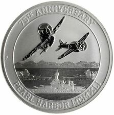 2016 PERTH MINT-1 TROY OZ-PEARL HARBOR .9999 FINE SILVER COIN SUPER NICE