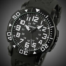 INFANTRY Mens Quartz Wrist Watch Sport Army Military Analog Black Rubber Fashion