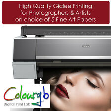 High Quality Giclee Printing on Choice of Fine Art Papers