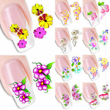 1X Fashion Nail Art Transfer Stickers Flower 3D Decals Manicure Decoration Tips
