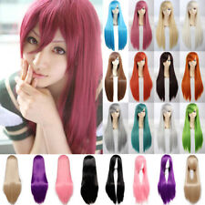 Full Wig Long Cosplay Wig Curly Wave Straight Heat Reistant Anime Party Costume