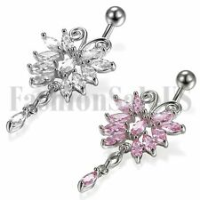Belly Button Ring Body Surgical Piercing Navel Jewelry Bar Steel Barbell Rings