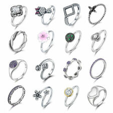 2017 NEW European 925 silver ring charm Women rings lady band Fit gift SIZE6-8