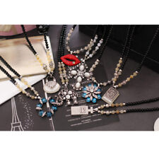 Hot Multi Style Fashion Crystal Pendant bead sweater Chain long Necklace