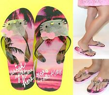NWT Hello Kitty 'Wish you were here..XOXO' EVA Flip Flops for GIRLS 11-12,13-1