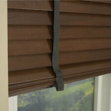 MADE TO MEASURE WALNUT WOODEN 35mm VENETIAN BLIND WITH TAPES REAL WOOD