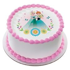 Frozen  Sisters Edible Icing Image Cake Decoration Topper
