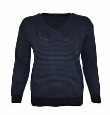 Invicta Mens Striped V Neck Jumper/Sweater