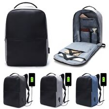 Anti-theft Men Laptop Notebook Backpack Travel School Bag with USB Charging Port