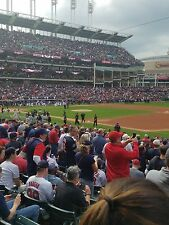 2 CLEVELAND INDIANS TICKETS 9/28 TWINS LOWER BOX AISLE SECTION 134
