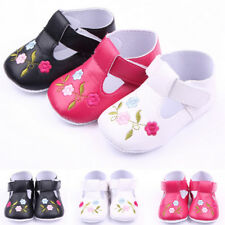 Soft Sole Leather Baby Shoes Boy Girl Infant Toddler Kids Children Crib 0-12M