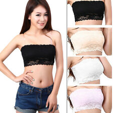 New Women Ladies Sexy Strapless Crop Top Vest Bra Bandeau Boob Tube brassiere