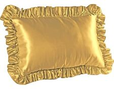 Luxury Satin Ruffled Pillow Sham For Hair and Skin Parkinsons and Cancer Helper
