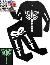 Boys Halloween Pajamas Skeleton Glow-in-the-dark Toddler Sleepwear Kids Pjs