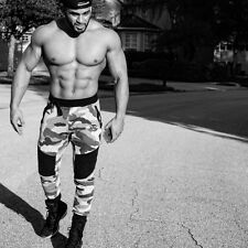 New Mens Desert Storm Camouflage Athletic Gym Tracksuit Pants Trousers Joggers
