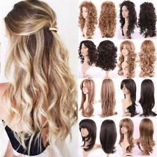 Women Full Wig Long Hair Curly Wave Straight Party Costume Cosplay Synthetic 02