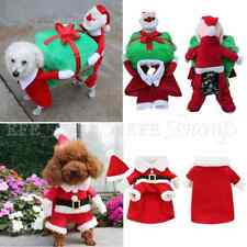 Pet Dog Puppy Funny Christmas Clothes Santa Claus Carry Gift Box Costume Apparel