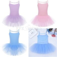 Kids Girls Cotton Ballet Tutu Dress Ballerina Dancer Dancewear Costume Age 2-14Y