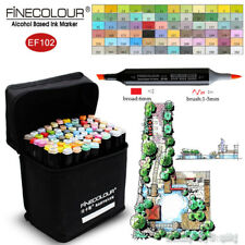 FINECOLOUR Borad Brush Sketch Marker Pen Landscape Design 36/48/60/72 Colors Set