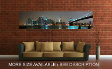 Wall Art Canvas Print Picture New York Brooklyn Bridge Panoramic View-Unframed