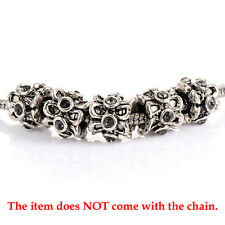 5pcs LOT crystal European beads fashion Fit charm Bracelet silver plated