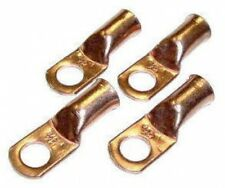 "fastonix quality copper battery terminal lugs 4 pack (3/8"" 4 gauge)"