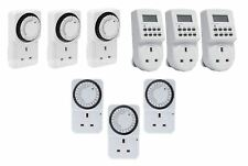 LCD DIGITAL ELECTRONIC PLUG-IN PROGRAMMABLE 24 HOUR WEEKLY TIMER SWITCH SOCKET