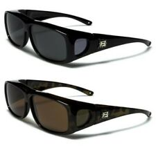 NEW BLACK SUNGLASSES POLARIZED MENS LADIES UV400 FIT OVER GLASSES WRAP DRIVING