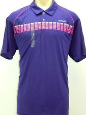 NWT $60 Adidas Mens Adizero Performance Golf Polo Sports T shirt Black or Purple