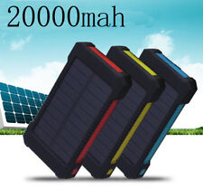 20000mAh Solar charger Power Bank Camping Compass with LED light Phone Charger