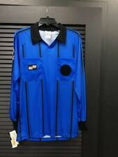 Official Sports Soccer Economy Referee Jersey Blue Long Sleeve Size YL