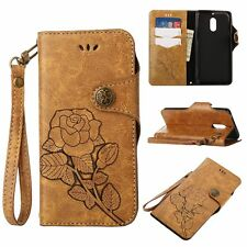 Retro Strap Leather Flip Wallet Stand Leather Case Cover For Nokia 6/N630/N640