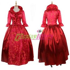 Red victorian gothic Renaissance Lolita dress cosplay costume