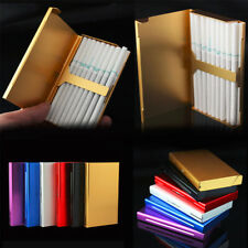 NEW Lady 20 Sticks Gold Fashion Creative Slim Metal Cigarette Case Cigarette Box