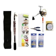 Complete Coarse Carp Fishing Kit Set Carbon Rod, Spinning Reel, Tackle Box