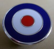 MOD TARGET BADGE - BLUE WHITE RED - 12 16 OR 20MM DIA