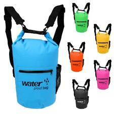 Waterproof Floating Dry Bag Backpack Boat Canoe Kayak Fishing & Shoulder Strap
