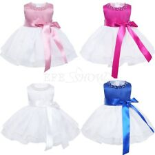 Baby Wedding Dress Kid Baptism Christening Gown Tutu Princess Flower Girl Dress