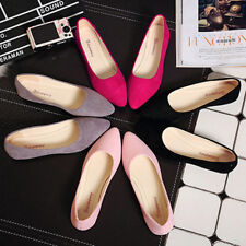 Womens Ladies Ballet Slip On Flats Loafers Boat Casual Work Single Shoes