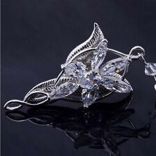 """Lord Of The Rings Arwen Evenstar Pendant Necklace Silver Plated Crystal set 18"""""""