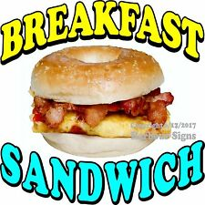 Breakfast Sandwich DECAL (Choose Your Size) Food Truck Concession Vinyl Sticker