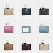 New Coach Mini Skinny ID Case F16107 F12186 Key Pouch Coin Case With Gift Box