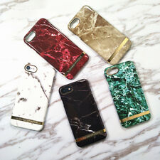 New Plating Gold Line Hard PC Marble Phone Case Cover For iPhone 6 6S 7 8 Plus