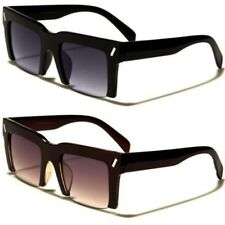 NEW BLACK SUNGLASSES LADIES MENS WOMENS LARGE RETRO RASOIR STYLE DESIGNER RETRO